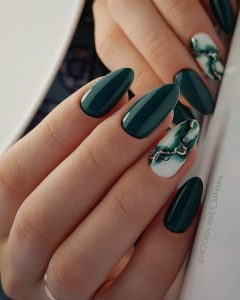 marble white with dark green