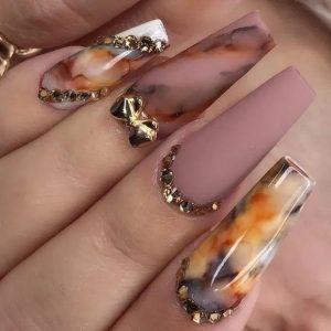 fall painting nails