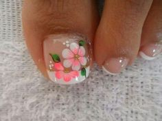 flower french pedicure
