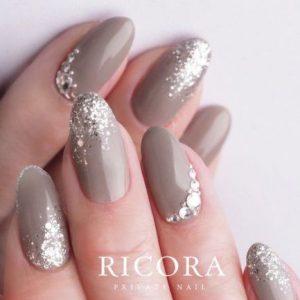 taupe glitter stone embellishing
