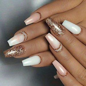 white nude swirl glitter