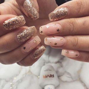 stars gold glitter