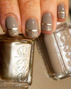 taupe gold chrome stripe shimmer