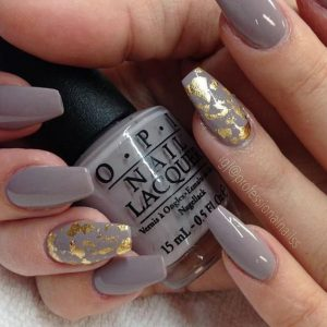 taupe foiling with gold