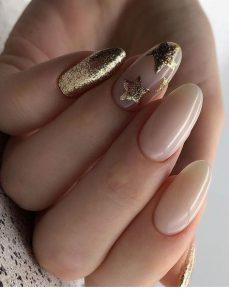 stars in gold glitter