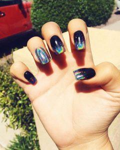 iridescent black ombre
