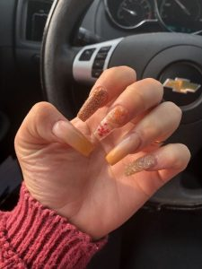 clear leaves into nails