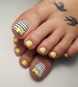 stripe yellow lemon