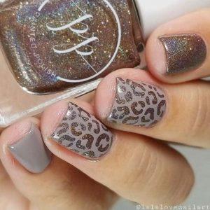 animal taupe print glitter