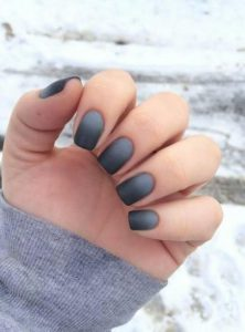 short black ombre design