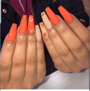 bright orange leaves