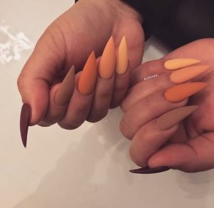 monochromatic orange tones