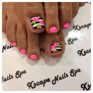 black white stripe peony toes