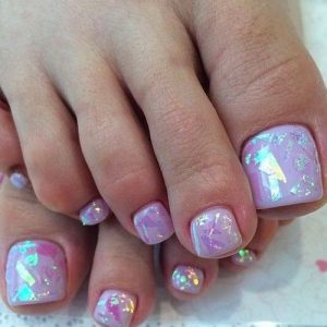holographic flake toes