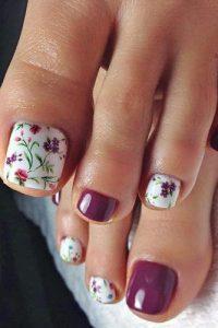 springtime floral design toes