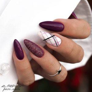fall plaid purples