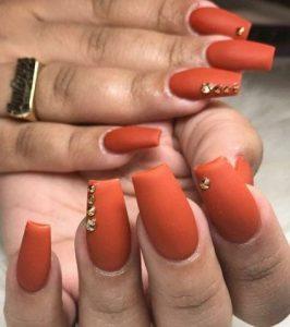 orange rhinestone simple
