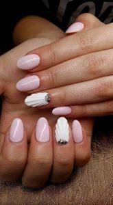 pink white shells