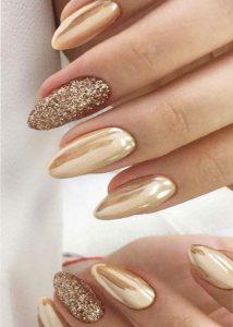 chrome gold glitter
