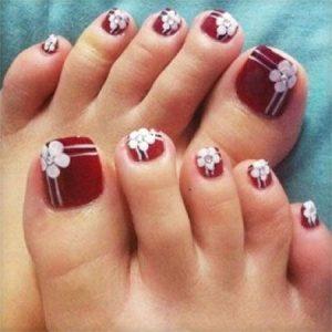 corner flower 3D red toes