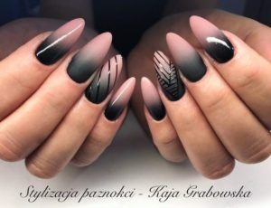 stripes ombre nude black