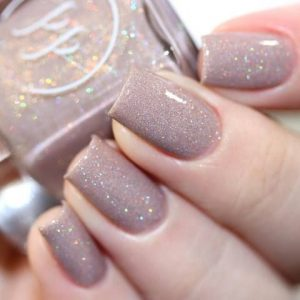 taupe tickled polish color