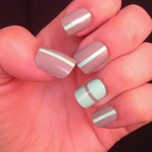 simple taupe stripes