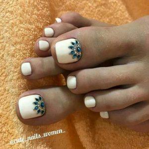 embellish rhinestone toes summer