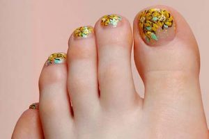 clear toes yellow flower ends