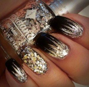 nye gold glitter with black