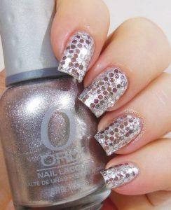 silver glitter ball new year