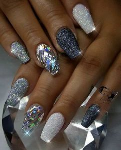 multi glitter new year