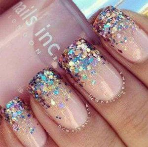 confetti glitter nails nye
