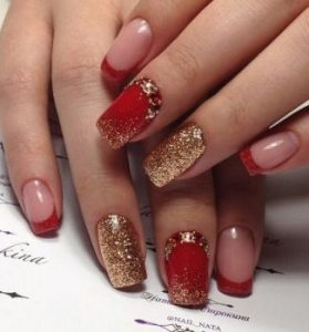 negative space red gold nye