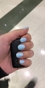 dip powder blue light