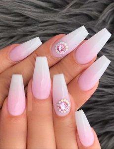 princess embellish pink white