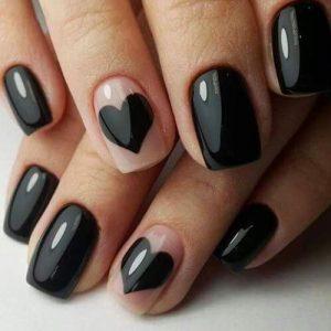 clear black heart