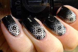 ombre black and white stamping
