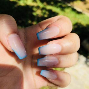 french tip bright blue