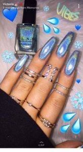hologram blue acrylics