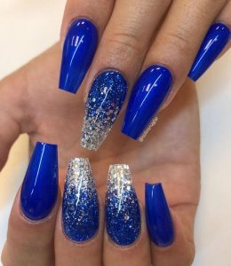 silver ombre on bold blue