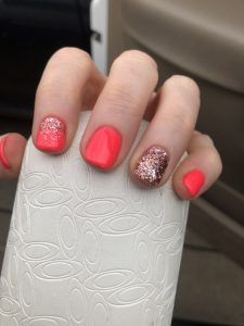 dip powder coral design
