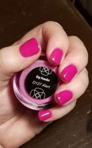 dip powder pink solid