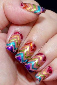 glitter zigzag stripe