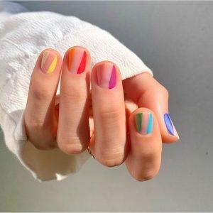 clear space strip rainbow