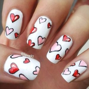 pink red drawing hearts