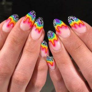 paint drip rainbow colors