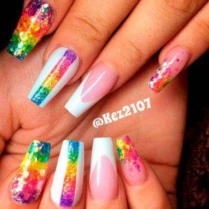 rainbow stripe white