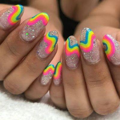 twisted rainbow stripe glitz