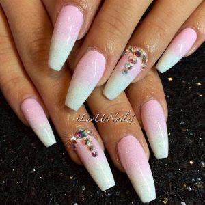 rhinestone accent pink white